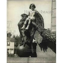 1923 Press Photo Statue McClellan on Connecticut Avenue