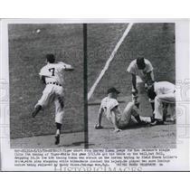 1956 Press Photo Detroit Tigers Shortstop Harvey Kueen