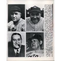 1949 Press Photo Joe McCarthy 1929 Cubs 1932 1943 Yankees 1949 Red Sox MLB Teams