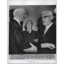 1954 Press Photo Connie Mack of Philadelphia Athletics with Will Harridge