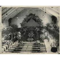 1929 Press Photo Congregational Church where John Coolidge married Miss Trumball