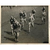 1925 Press Photo of Tierney Winning Intecollegiate Track Meet at Franklin Field