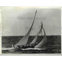 1937 Press Photo Water Witch, Adventurer, Miami to Nassau Ocean Sailing Race