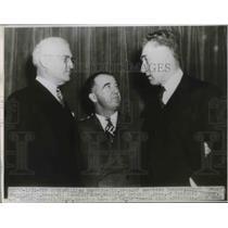1947 Press Photo William Harridge president of the American League w/ Albert
