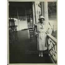 1922 Press Photo English golfer Mrs. William Gavin in White Sulfur Springs W VA
