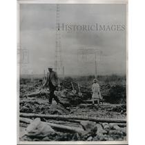 1935 Press Photo Addis Ababa Ethiopia Africa War Wreckage