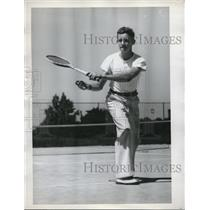 1927 Press Photo Emmett dowling Jr. Junior tennis Finalist - nes05209