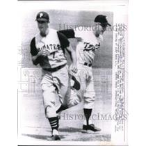 1963 Press Photo Jim Pagliaroni Pirates Tagged Out At 3rd By Rich Rollins Twins