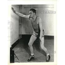 1935 Press Photo Don Allen, Notre Dame Junior College Basketball - nes04938