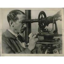 1927 Press Photo Paul E. Johnson, U. S. Weather Bureau Meteorologist