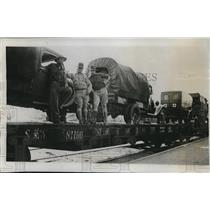 1933 Press Photo Relief Train Carrying Red Cross Supplies To Texas Hurricane Vic