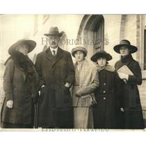 1923 Press Photo Dr. A.C.D. Van de Graeff, Minister of Netherlands with Family