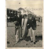 1923 Press Photo Mr A L Everitt Mrs Frank Frazier Mr Maxwell Norman