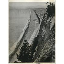 1931 Press Photo View From Bluff HIll In Napier, New Zealand