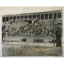 1931 Press Photo C.H. Milans, Dartmouth Wins High Jump, Cambridge, Massachusetts