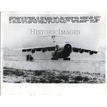 1970 Press Photo Edwards Air Force Base California Lockheed C5A Plane