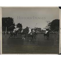 1927 Press Photo American and British Polo Team Match, Meadow Brook, Long Island