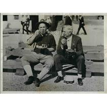 1934 Press Photo US Spanish War Vets Lt Al Smith & John Clancy