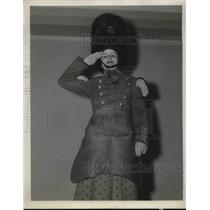 1937 Press Photo Miss Mary Ruth La Voo, Cleveland, Ohio Grays for parade