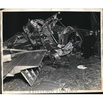 1937 Press Photo TWA airplane crash near Pittsburgh, Pa. Killing 13