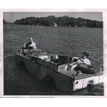 1951 Press Photo Charles Nelony modified surplus army duck