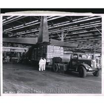 1957 Press Photo Mechanized Freight Handling at Lockheed Aircraft in Marietta
