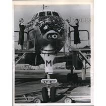 1956 Press Photo New Lockhead 1049H cargo /passenger plane