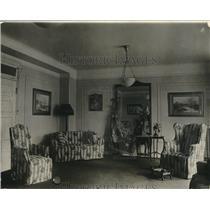 1923 Press Photo President Coolidges Reception Room at Willard Hotel Washington