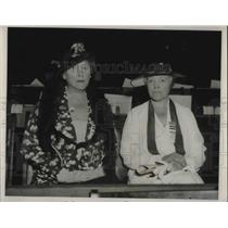 1936 Press Photo Nat'l Committee Mrs. Paul Pitzsimons and Mrs. Louis Burlingham