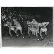 1938 Press Photo Don Lash, Gene Venzke, C Fenske, G Cunningham, Wanamaker Mile