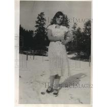 1932 Press Photo Mrs. Ethel Craig from Custer, S.D. Believes she was kidnapped