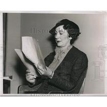 1937 Press Photo Mrs. Cecilia Wenz National treasurer