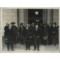 1927 Press Photo Cuban president, Gerardo Machado, arrives in Capital.