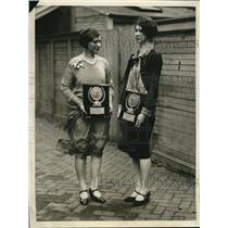 1929 Press Photo Anna Allbright And Pauline Gallon Spelling Bee Champions