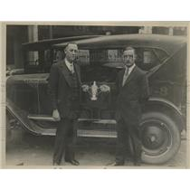 1926 Press Photo Charlie Nice & Al Kellogg Won Silver Cup in Greatest Distance