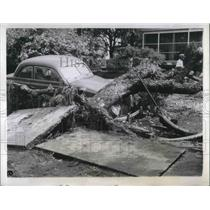 1944 Press Photo Hurricane Victims