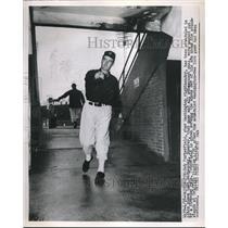 1952 Press Photo Bob Porterfield, to pitch for Washington Nationals vs New York