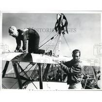 1967 Press Photo Atwater California Terry Holm Bud Fountain Modesto Plane