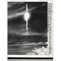 1957 Press Photo Air Force Missile reached for the sky at Cape Canaveral,Fla.