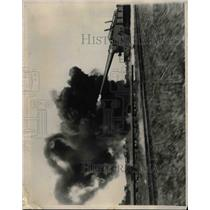 1927 Press Photo Firing Guns at the proving grounds at Aberdeen Maryland.