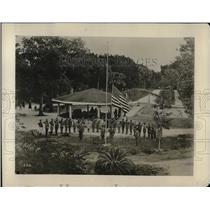 1928 Press Photo Local Boy Scout conduct Flag ceremony at St. Augustine.