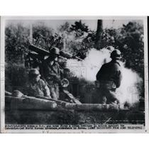 1950 Press Photo US Marines fighting near Seoul, Korea