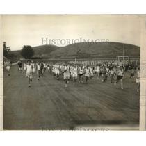 1929 Press Photo LA, Calif. trans continental marathon runners - nes11660