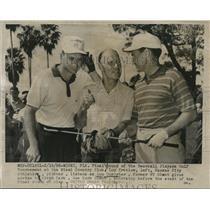 1956 Press Photo Lou Kretlow, Kansas City, Lou Durocher, Alvin Dark, New York