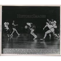 1951 Press Photo L.I. Univ S White,A Bigos, L Smith vs Kans State - nes11323