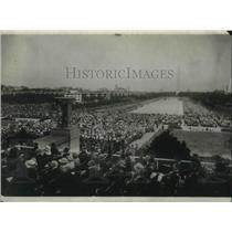 1922 Press Photo Linclon Memorial dedication