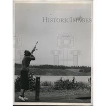 1939 Press Photo Mrs. GB Hockwalt, Seattle, favored in skeet shooting tournament