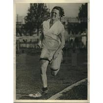 1925 Press Photo U.S. track star Francis Ruppert trains for meet in Canada