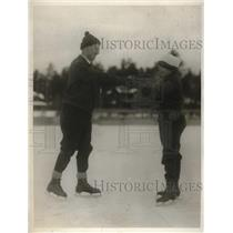 1929 Press Photo Mr. William White of Pa. and daughter Jane at Lake Placid.