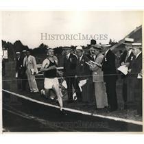 1936 Press Photo University of Indiana Track, Donald Lash Wins 10,000 Meter Race